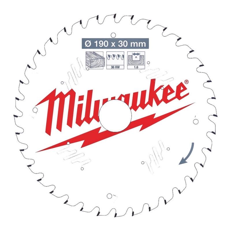 Milwaukee Tarcza Tnąca Widiowa 190mm x 30otwór x 36Z 4932471301 ...