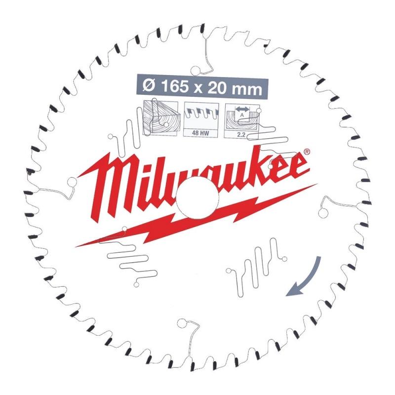 Milwaukee Tarcza Tnąca Widiowa 165mm x 20otwór x 48Z 4932471295 ...